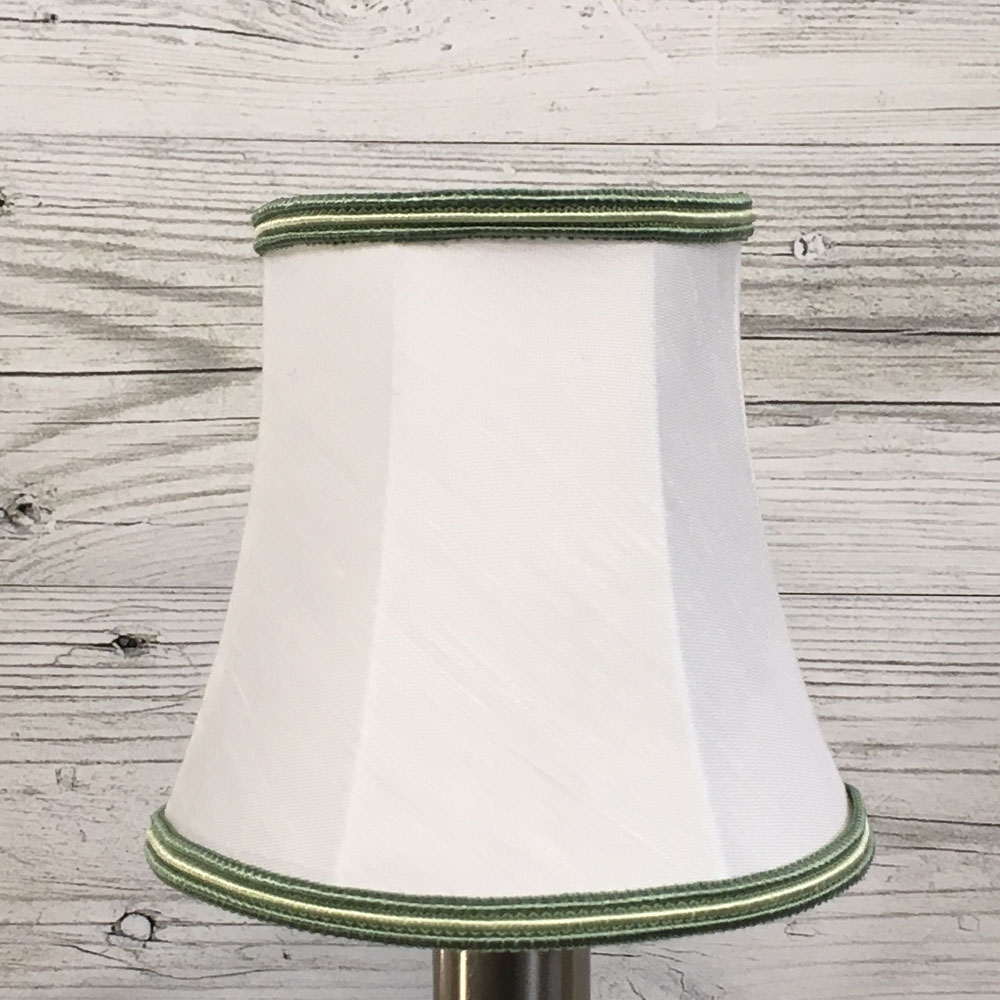 Bowed Candle Shade White & Green